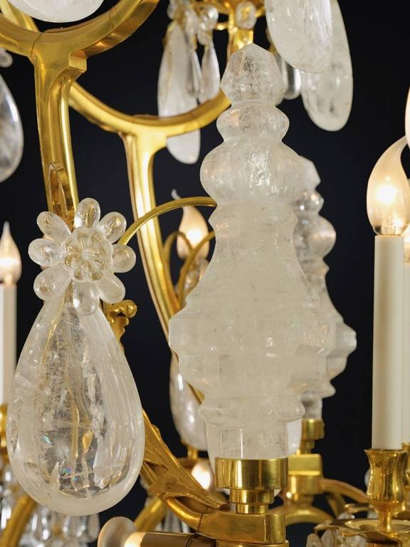 Biggest Pair Of Rock Crystal Lightings in the World By Alexandre VOSSION For Sale 1
