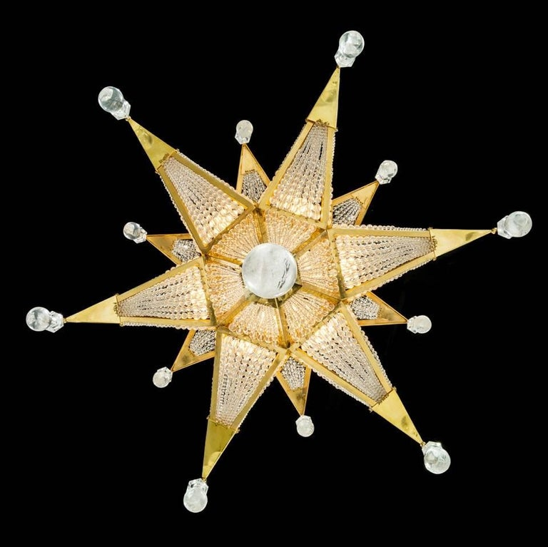 Rock Crystal Chandelier by Alexandre Vossion For Sale 2
