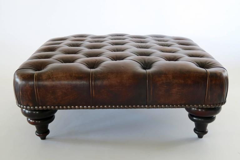 george smith ottoman pouf england chesterfield at 1stdibs. Black Bedroom Furniture Sets. Home Design Ideas