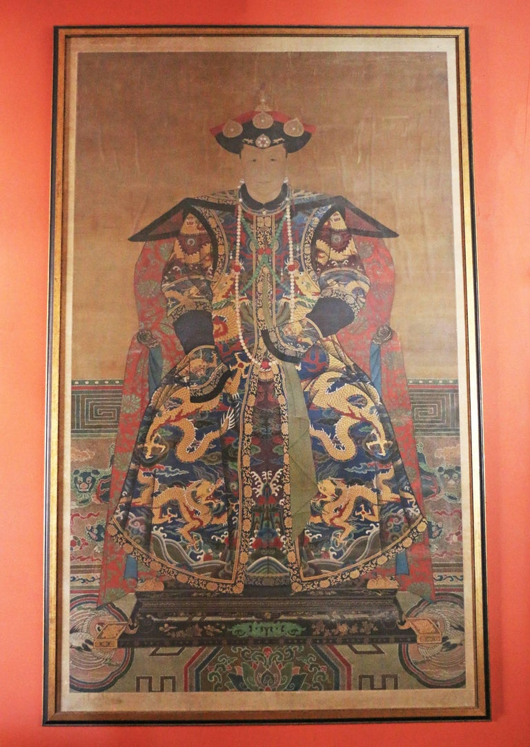 Qing Dynasty Ancestor Portrait For Sale at 1stdibs