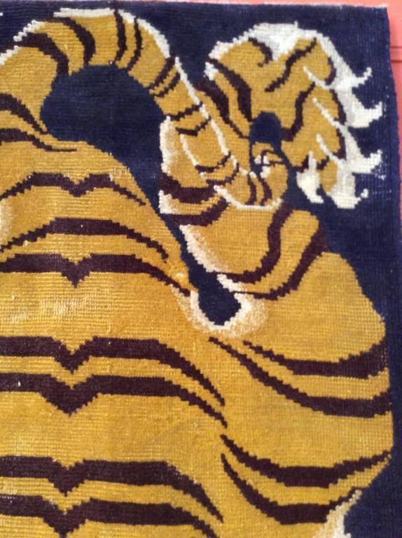 Antique Tibetan Tiger Rug At 1stdibs