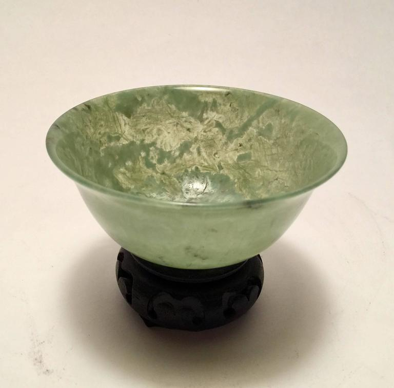 Early 20th Century Chinese Carved Jade Bowl At 1stdibs