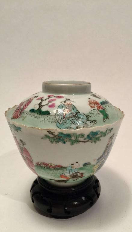 Qing Dynasty Tea Cup With Lid For Sale At 1stdibs