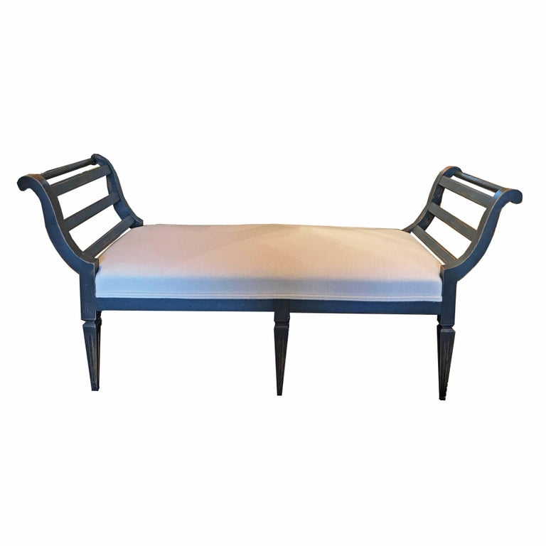 18th century antique chaise newly upholstered for sale at for Antique chaise for sale