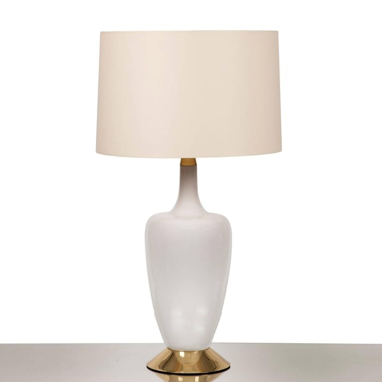Large Ceramic Duck Table Lamp on Polished Brass Base 4