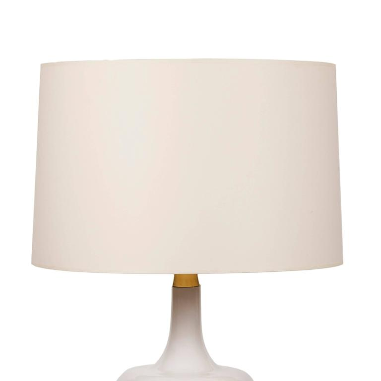 Large Ceramic Duck Table Lamp on Polished Brass Base 3