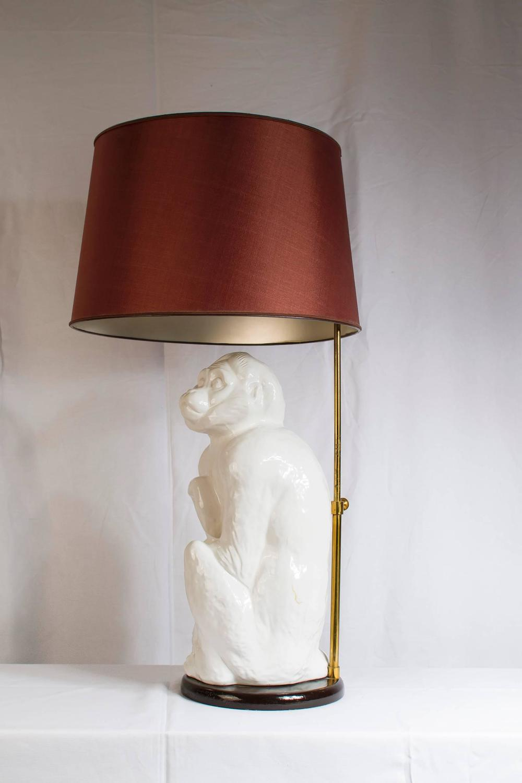 italian ceramic monkey lamp 1950s for sale at 1stdibs. Black Bedroom Furniture Sets. Home Design Ideas