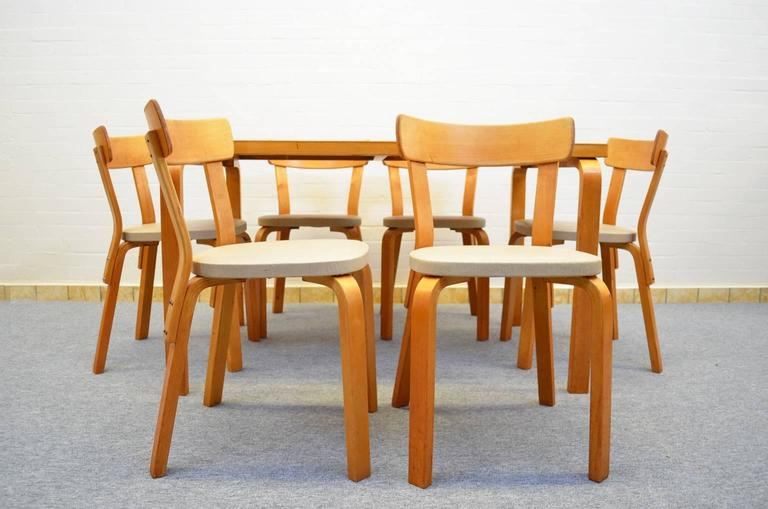 Finnish Dining Set by Alvar Aalto for Artek For Sale
