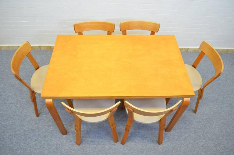 Dining Set by Alvar Aalto for Artek For Sale 1