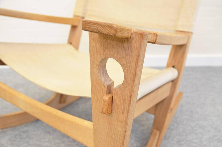 Danish Keyhole Rocking Chair by Hans Wegner For Sale