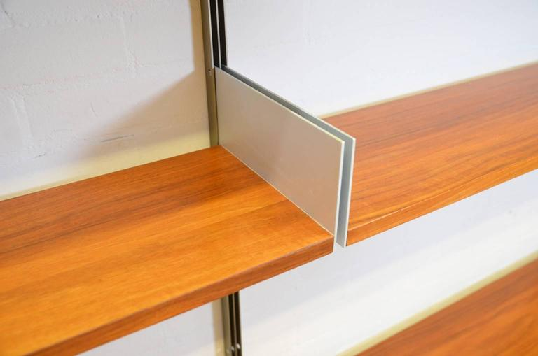 German Dieter Rams 606 Universal Shelving System in Walnut Veneer for Vitsoe
