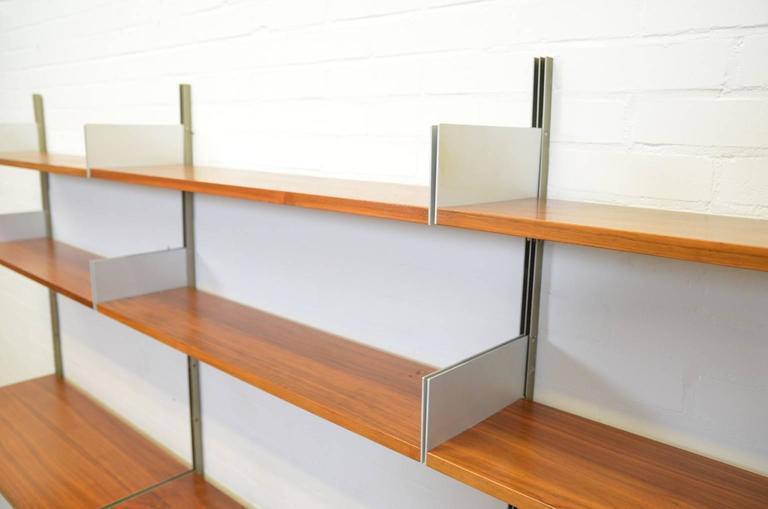 Mid-Century Modern Dieter Rams 606 Universal Shelving System in Walnut Veneer for Vitsoe