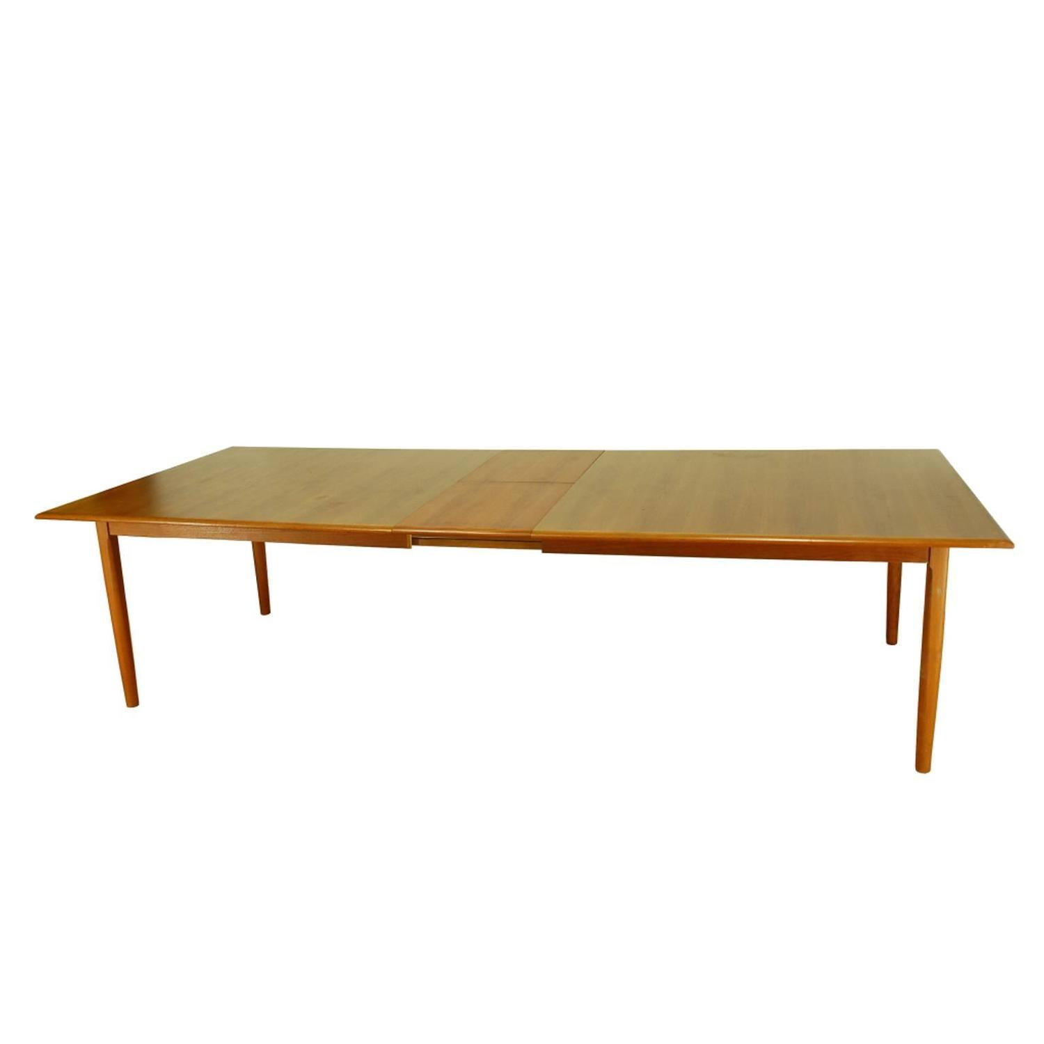 Modern Extra Large Teak Dining Conference Table Made In Denmark For