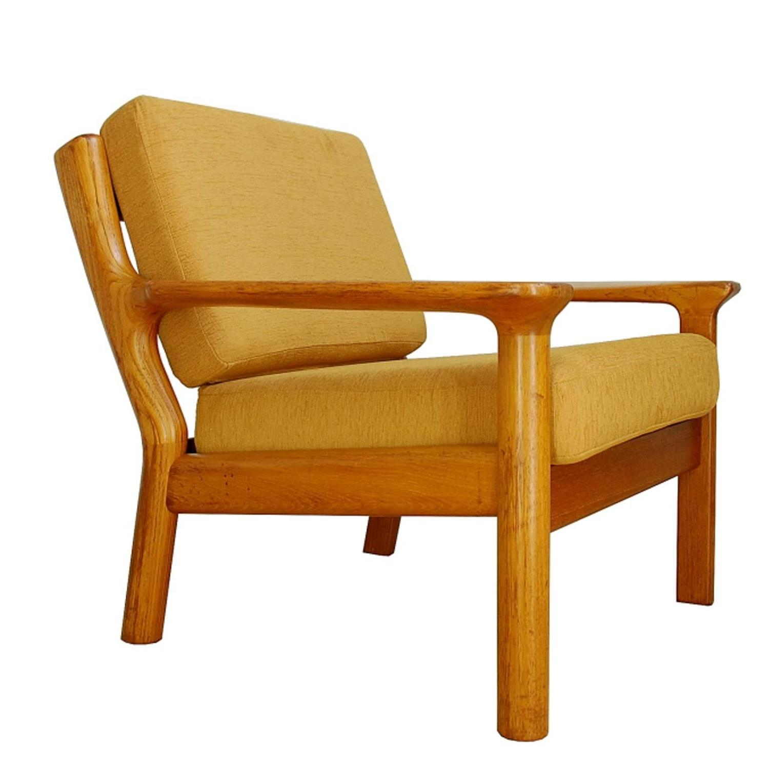 1960s Teak Lounge Chair by Glostrup Furniture at 1stdibs