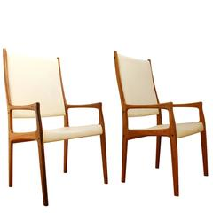 Set of Danish Modern Rosewood Armchairs by Mogens Kold