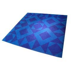Rare 1960 'Geometri 6' Carpet by Verner Panton