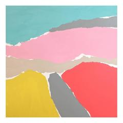 'Delta Mishmash' Abstract Landscape Painting by Alan Fears Pop Art