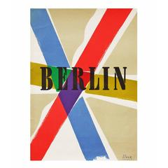 1950s Modernist Berlin Travel Poster by Richard Blank