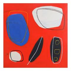'Five Pieces Left' Abstract Painting by Alan Fears