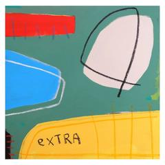 'The Big Cheese Muscled In' Abstract Painting by Alan Fears