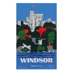 1980s British Railways Windsor Travel Poster by Edward Pond