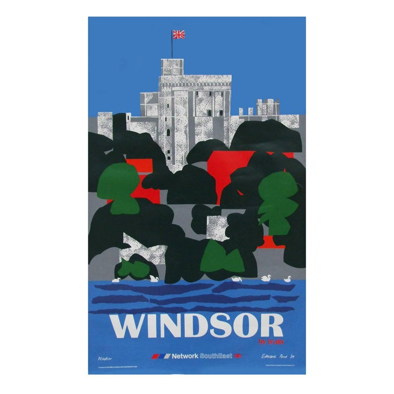 1980s British Railways Windsor Travel Poster by Edward Pond For Sale