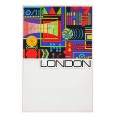 1960s London British Travel Poster Pop Art Abstract Design