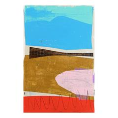 'The Fence' Abstract Landscape Painting by Alan Fears Modernist