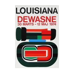 1970s Jean Dewasne Exhibition Poster Art Design