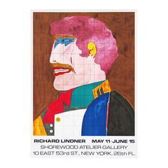 1960s Richard Lindner Exhibition Poster Pop Art Design Profile