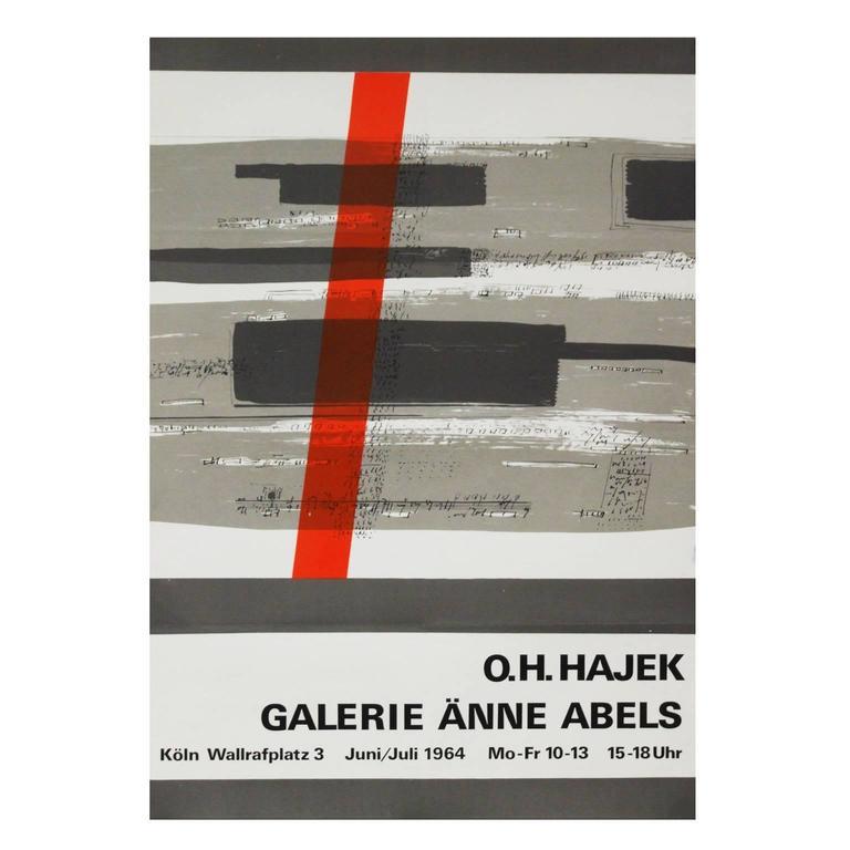 1960s Hajek Art Exhibition Poster Pop Art Design