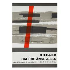 1960s Hajek Art Exhibition Poster Pop Art Design