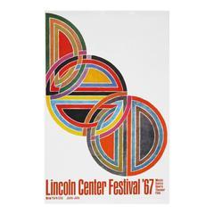 1960s Frank Stella Lincoln Centre Art Festival Poster Pop Art Design