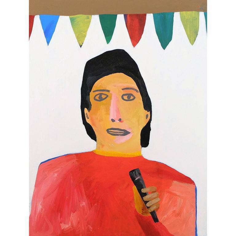 'Master of Ceremonies' Portrait Painting by Alan Fears, Pop Art 1