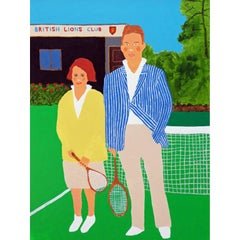 'Dressed For Success' British Tennis Portrait by Alan Fears