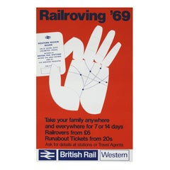 1960s British Rail Travel Poster Rail Roving, 1969