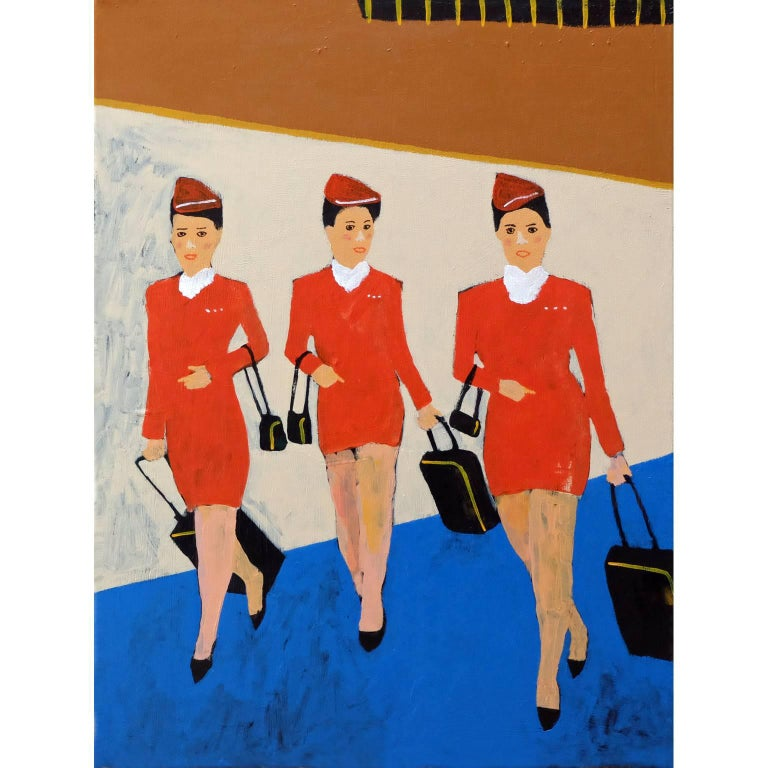 'Working Girls' Portrait Painting by Alan Fears Pop Art