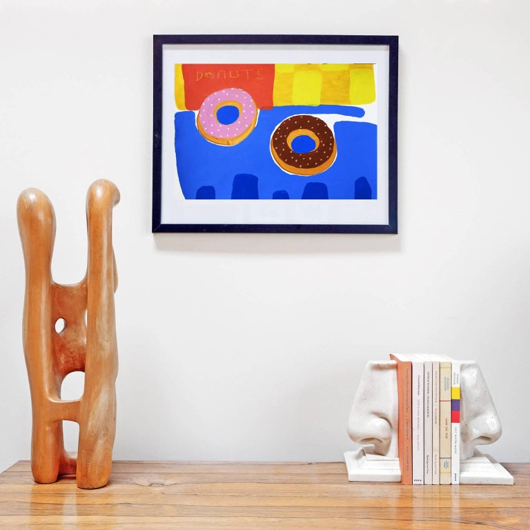 Acrylic on 300 gsm paper by Alan Fears, 2018.   Unframed. The frame is for display purposes only.  Alan Fears (b. 1974) is an emerging British artist who is shortlisted for the John Moore's Painting Prize 2018.  'A naive artist, a graphic