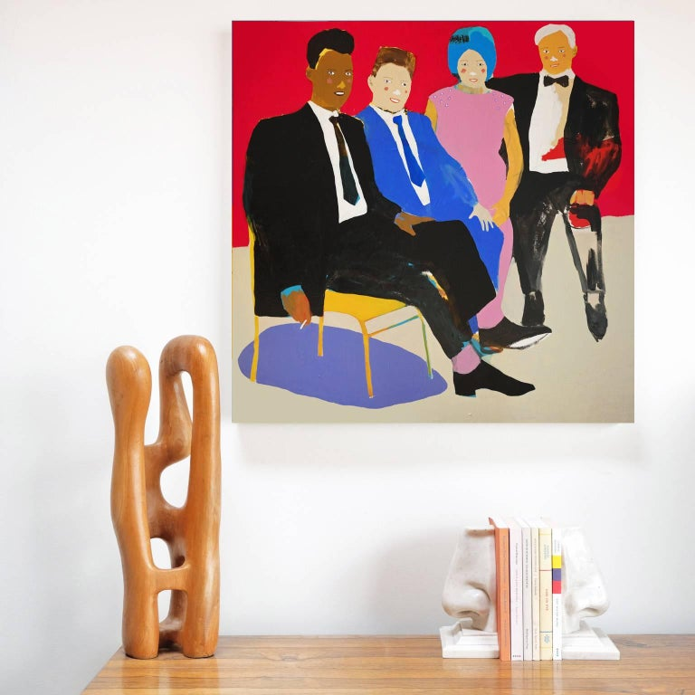 Acrylic on canvas by Alan Fears, 2018.  Alan Fears (b. 1974) is an emerging British artist who is shortlisted for the John Moores Painting Prize, 2018  'A naive artist, a graphic artist, a pop artist... I am a slice of each. My style is simple