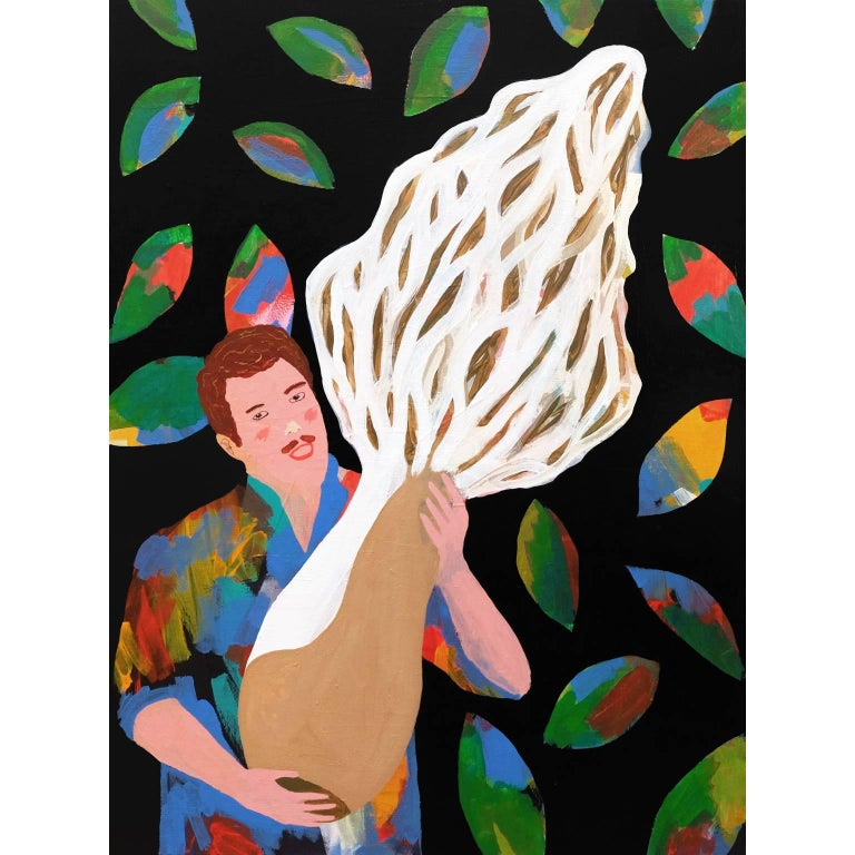 'The Biggest Morel in the World?' Portrait Painting by Alan Fears Pop Art For Sale