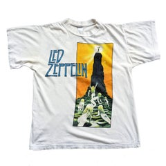 Vintage 1980s Led Zeppelin Houses of the Holy Rock Band T-Shirt Large