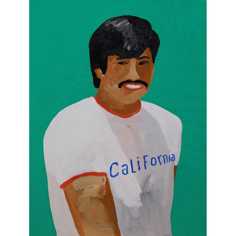 'A Sunshine State' Portrait Painting by Alan Fears, California For Sale