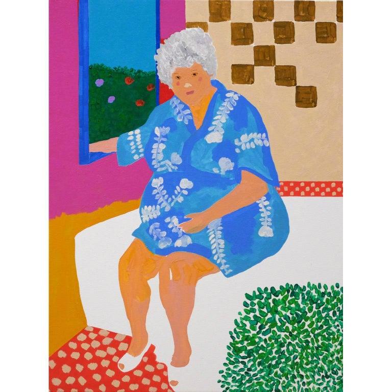 'Kimono Blues' Portrait Painting by Alan Fears Pop Art For Sale
