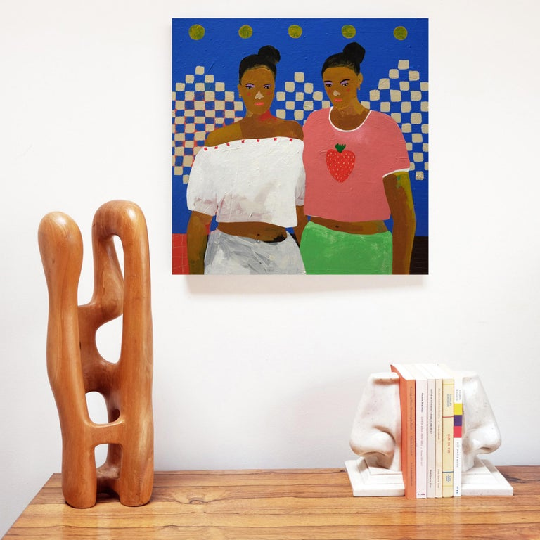 Acrylic on canvas by Alan Fears, 2018.  Alan Fears (b. 1974) is an emerging British artist who is shortlisted for the John Moores Painting Prize 2018.  'A naive artist, a graphic artist, a pop artist I am a slice of each. My style is simple and