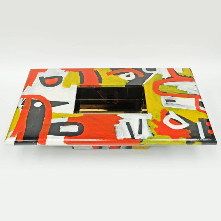 Modern Studio Coffee Table a Bespoke Piece of Art Furniture Tribal Design For Sale