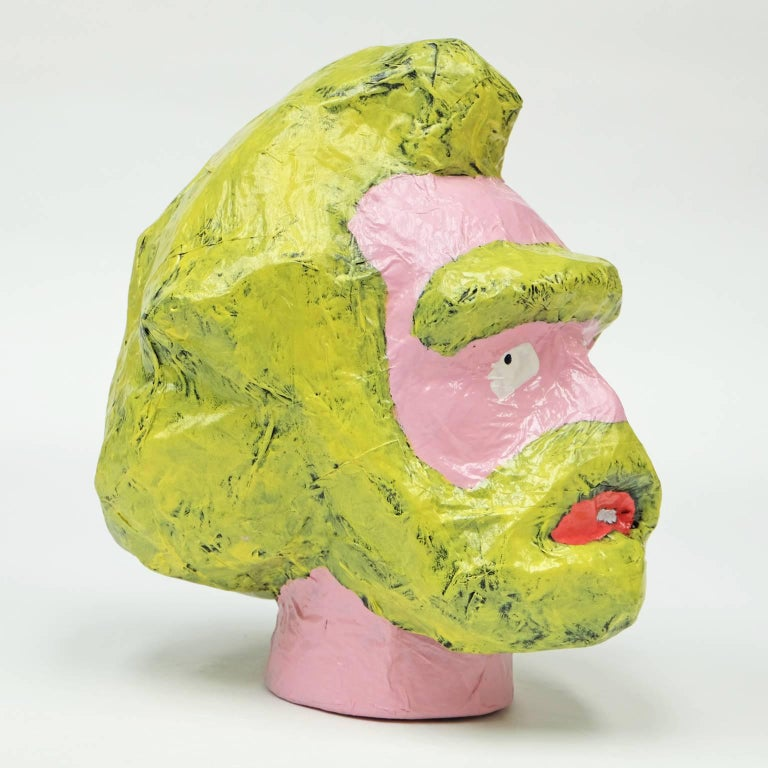 Contemporary 'Followers' Sculptures by Alan Fears Paper Mache Pop Art Heads For Sale