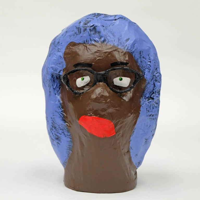 Acrylic 'Followers' Sculptures by Alan Fears Paper Mache Pop Art Heads For Sale