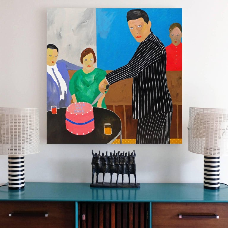 Acrylic on canvas by Alan Fears, 2017.  Alan Fears (b. 1974) is an emerging British artist who is currently featured in the John Moores Painting Prize 2018.  'A naive artist, a graphic artist, a pop artist... I am a slice of each. My style is