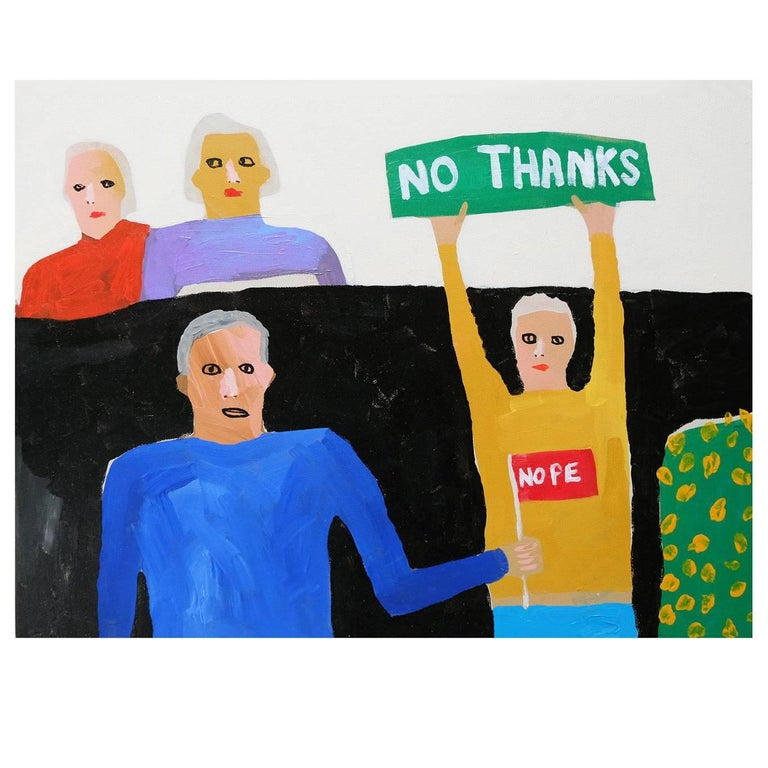 'The Protestinators' Portrait Painting by Alan Fears Pop Art