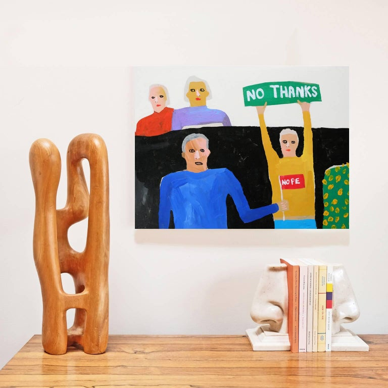 Acrylic on canvas by Alan Fears, 2017.  Alan Fears (b. 1974) is an emerging British artist who is currently featured in the John Moores Painting prize and the Royal Academy Summer Exhibition 2018.  'A naive artist, a graphic artist, a pop